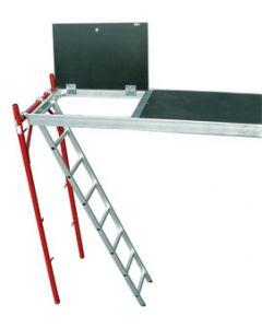 Plataforma aluminio con trampilla de 3 x 0.60 m