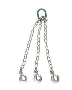 Juego de cadenas de 3 ganchos de seguridad