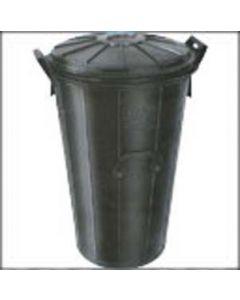 Cubo de goma de 90 litros con tapa y cierre hermético