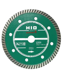 Disco diamante de 230 mm continuo para materiales duros