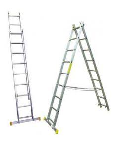Escalera combinada de 2 x 9 peldaños de 4.50 m