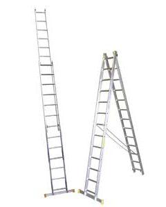 Escalera combinada de 2 x 13 peldaños de 6.46 m