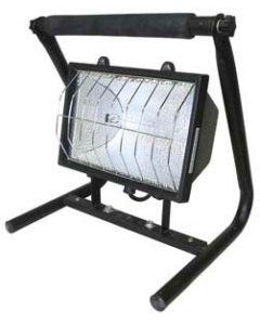 Foco portátil de 1000 w con soporte con bombilla y cable 1.5 m