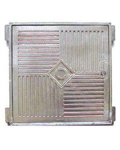 Marco y tapa de 20 x 20 cm en fundición alumunio