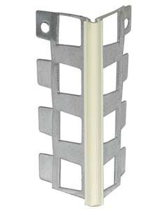 Perfil de exterior de metal y pvc beige de 2.5 m monocapa
