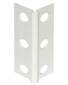 Perfil de exterior de pvc blanco de 2.5 m monocapa