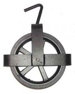 Polea de fundición de 25 cm con cruceta