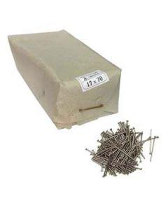 Puntas de hierro de 17 x 70 mm paquete 3 kg