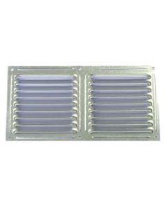 Rejilla de 30 x 15 cm pulida aluminio