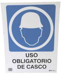 Señal de pvc obligatorio uso casco