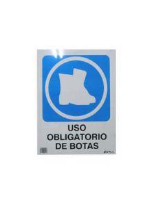 Señal de pvc obligatorio botas