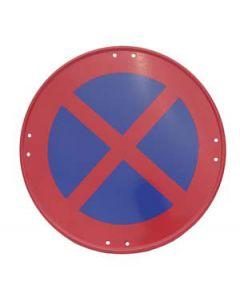 Señal metálica prohibido parar y estacionar
