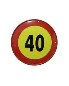 Señal metálica velocidad máxima de 40 km/h