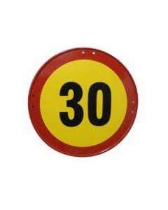Señal metálica velocidad máxima de 30 km/h
