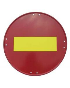 Señal metálica dirección prohibida