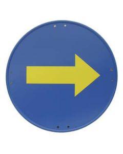 Señal metálica dirección obligatoria