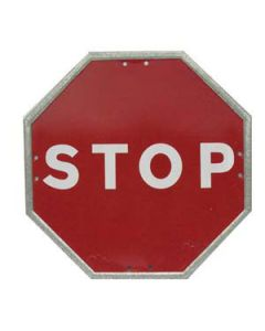 Señal metálica octogonal stop