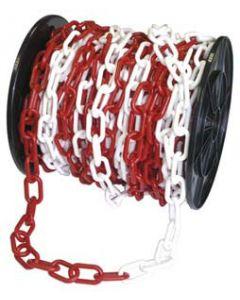 Cadena plástica blanca y roja 25 m